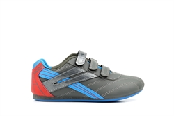 Mercury Boys Velcro Trainers Grey/Sky/Red