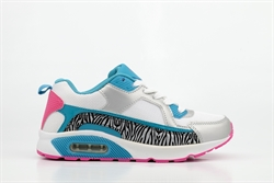 Ascot Girls Lace Up Trainers With Zebra Print Detail