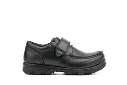 US Brass Velcro Fastening Boys School Shoes