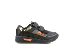 Mercury Boys Camouflage Velcro Trainers Black/Green/Orange