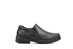 US Brass Boys Slip On Formal/School Shoes Black