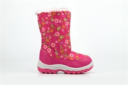 Mercury Girls Snow Boots With Flower Pattern Pink