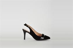 Womens High Heel Slingback Black Shoes