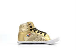 Chipmunks Girls High Top Trainers Gold