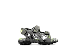 Ascot Boys Camouflage Summer Sandals Grey/Lime