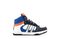 Ascot Boys High Top Trainers Blue/Navy/Orange