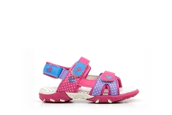 Ascot Girls Summer Sandals Purple/Fuchsia