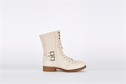 Womens Lace Up Mid Calf Combat Boots