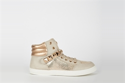 Womens Beige Studded High Top Trainers