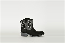 Womens Cowboy Boots Black With Silver Detail