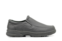 Dr Keller Mens Wide Fit Casual Leather Shoes Grey