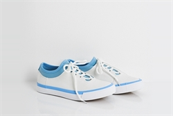 Womens Lace Up Platform Trainers Blue/White