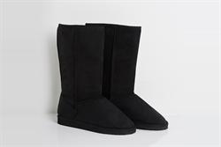Womens Knee High Platform Boots Black