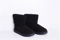 Womens Classic Sock Detail Boots Black