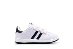 Mercury Kids Touch Fasten Trainers White/Navy