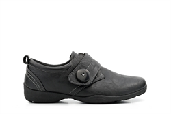Dr Keller Womens Comfort Shoes With Velcro Fastening Black