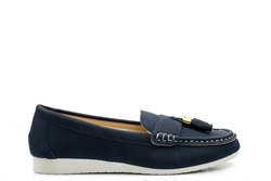 Dr Keller Womens Comfort Shoes With Tassel Detail Navy