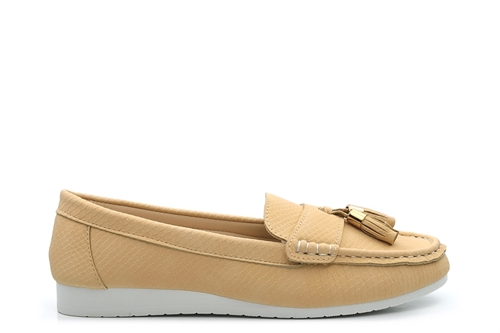 Dr Keller Womens Comfort Shoes With Tassel Detail Cream