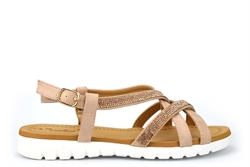 Dr Keller Womens Diamante Strap Sandals Gold