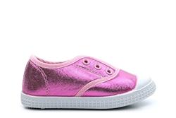 Chatterbox Girls Slip On Gusset Glitter Pumps Pink