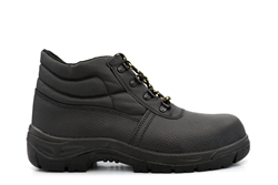 Tradesafe Leather Coated Safety Ankle Boots Black
