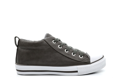 Renegade Sole Boys Fleece Lined Lace Up Sneakers Grey
