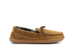Response Mens Ultra Light Moccasin Slippers Brown
