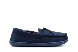 Response Mens Ultra Light Moccasin Slippers Navy