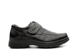 Mens Touch Fasten Comfort Shoes Black
