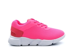Ascot Girls Lace Up Trainers Pink