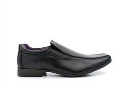US Brass Mens Wide Fit Slip On Shoes Black
