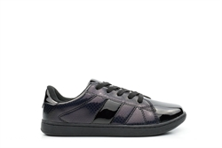 Ascot Girls Lace Up Skate Trainers Black