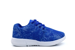 Ascot Boys Lace Up Trainers Cobalt Blue