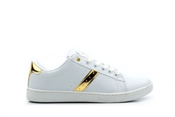 Ascot Womens Skate Shoes White/Gold