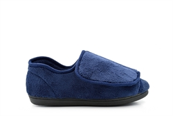Dr Keller Wide Open Comfort Velcro Slippers Navy