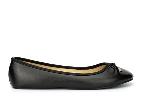 Womens Ballerina Bow Detail Dolly Shoes Black