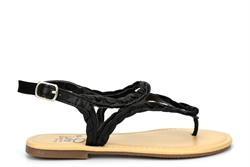 Girls Strap Summer Sandals With Buckle Fastening Black