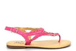 Girls Strap Summer Sandals With Buckle Fastening Fuchsia