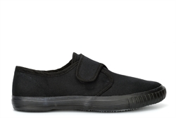 Boys/Girls Touch Fastening Plimsolls With Canvas Upper Black