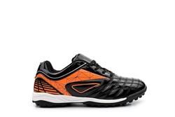 Ascot Boys Astro Turf Football Trainers Black/Orange