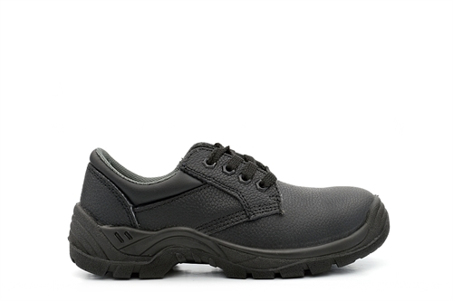 Grafters Leather Safety Shoes Black