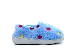 Girls Multi Spot Slippers Blue