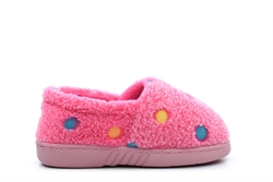 Girls Multi Spot Slippers Pink