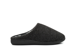 Zedzzz Mens Mule Slippers Black