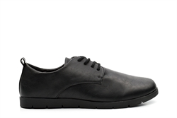 Dr Keller Womens Faux Leather Flat Lace Up Shoes Black