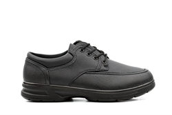 Dr Keller Mens Wide Fit Lace Up Shoes Black