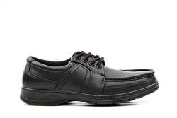 Easy Feet Mens Smart Lace Up Shoes Black