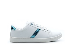 Ascot Womens Platform Trainers White/Blue