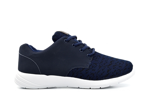 Ascot Mens Ultralite Lace Up Memory Foam Trainers Navy