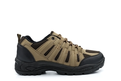 Mens Hiking/Walking Lace Up Trainers With Mesh Panels Brown